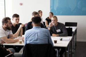 image of students at meeting