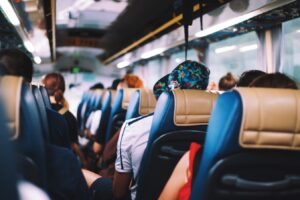 image of people in a bus